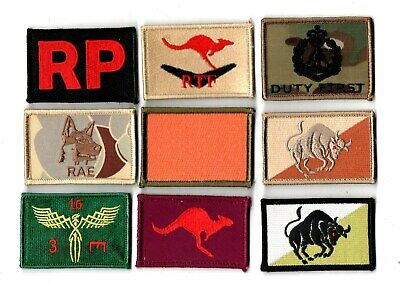 a lot of 9 mixed Australian Army Unit Patches                   . Lot 14