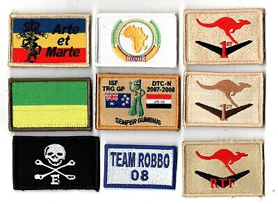 a lot of 9 mixed Australian Army Unit Patches                   . Lot 16