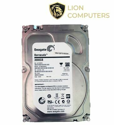 3Tb Seagate Barracuda SATA Hard Drive - ST3000DM001 - Fully Tested Excellent Con