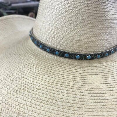 Pure Western Women's Kara Hat Band Black and Turquoise