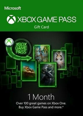 Xbox Game Pass, 1 Month Subscription Code, Xbox One 360, Instant Delivery
