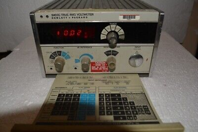 HP 3403C True RMS Voltmeter Tested Working