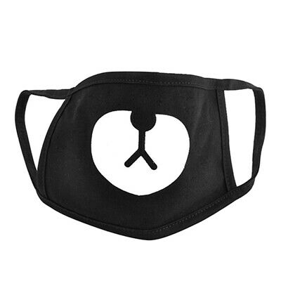 Unisex Black Lovely Bear Mouth Face Mask Respirator for Cycling Anti-Dust Little