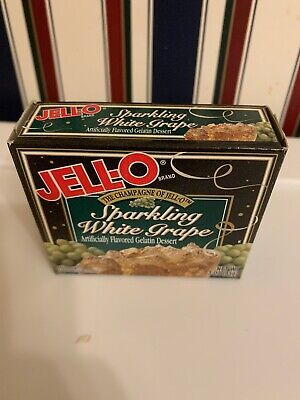 JELL-O Sparkling White Grape The Champagne Of Jell-o Vintage VTG Jello 3oz
