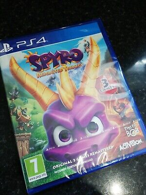 Spyro Reignited Trilogy (PlayStation 4, 2018) NEW IN WRAPPER