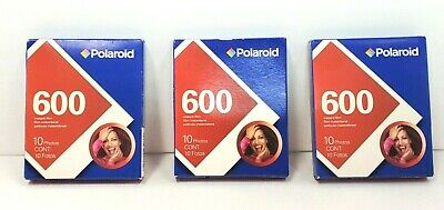 3 New Old Stock of Polaroid 600 Color Film 10 Photos Sealed Box 2006