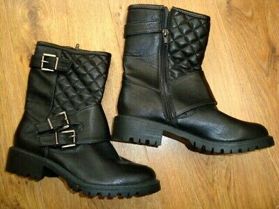New Primark Winter Black Ankle Boots Size 3 Uk, Eu 36 With Tags Bnwt