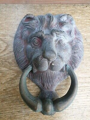 Vintage brass weathered door knocker