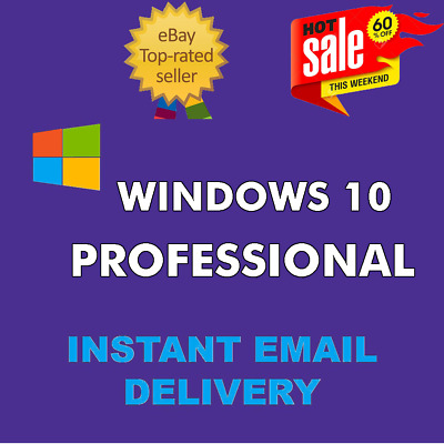 WINDOWS 10 PRO PROFESSIONAL 32/64bit GENUINE LICENSE KEY INSTANT DELIVERY world