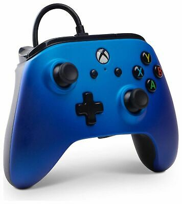 PowerA Enhanced Wired Controller for Xbox One - Sapphire Fade (No Box)
