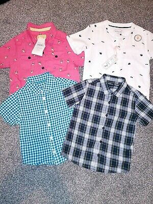Boys River Island Next Short Sleeve Shirt Bundle 18-24 1.5 2 summer holiday