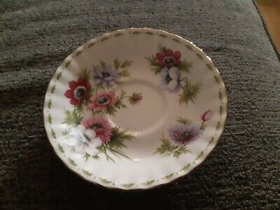 Royal Albert Flower Of The Month Series - Anemones - Saucer