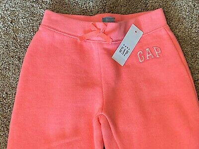 GAP Sweatpants Sweat Pants Girls Size 5 Jogger NWT Florescent Pink Super Soft