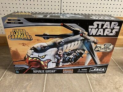 HASBRO Star Wars REPUBLIC GUNSHIP Saga Collection Clone Cartoon Network Vehicle