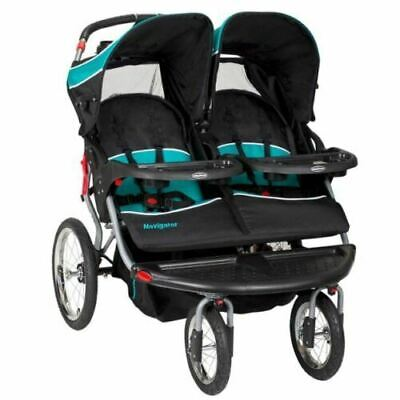 Double Stroller Jogger Buggy Pram Twin Side By Side Seat Chair Baby Kid Big Best