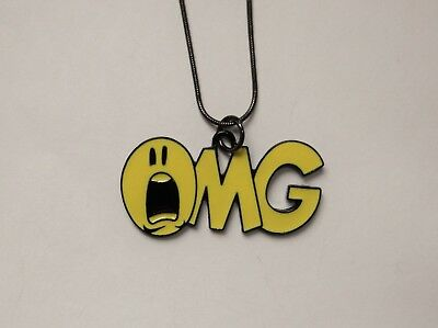 Unwanted OMG Large Charm NECKLACE 16 Inch Snake Chain Great Gift