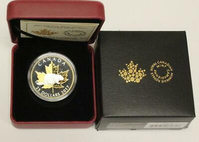 2017 $25 Timeless Icons .9999 Fine Silver & Gold 1 oz Proof Piedfort Coin Canada