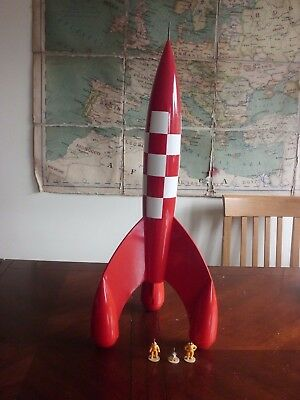 "Tintin Moon Rocket 67cm (27"") - Aroutcheff - rare"