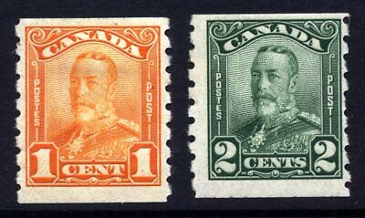 Canada 1928 Coil Set Cat £35 Mounted Mint Imperf x 8