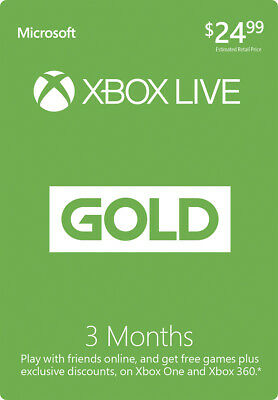 Xbox Live Gold For 3Month Digital Code Region Free