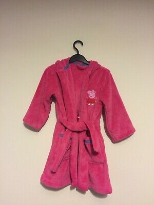 Marks and Spencer girls peppa pig crown bath robe age 2-3 years Bnwot new 💕💕