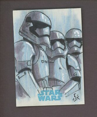 Star Wars JTTFA Journey to the Force Awakens Sketch Card STORMTROOPERS SNELL 1/1