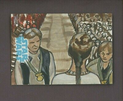 Star Wars Journey to the Force Awakens Sketch Card HAN LUKE LEIA LEE LIGHTFOOT
