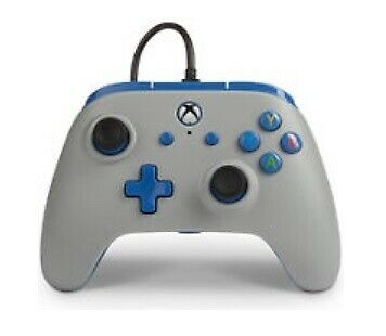 PowerA 1506684-01 Enhanced Wired Controller for Xbox One - Grey Blue