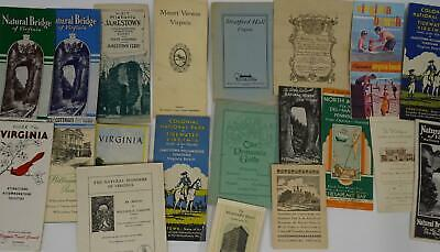 Lot 20 Virginia Travel Brochures Maps Natural Bridge Williamsburg 1900s