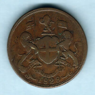 Penang - East India Co. 1828 Two Cents..  Fine+
