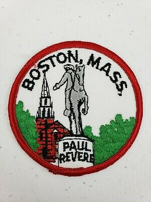 BOSTON PRIDE embroidered iron on patches UMASS 3 MASSACHUSETTS GUY PATRIOTS