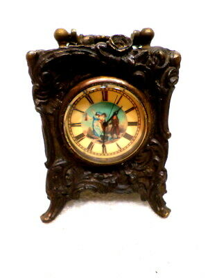 Stunning Brass Rococo Carriage Clock With Sweep Second Hand---PROJECT CLOCK