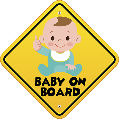 Get 3rd FREE Made In the USA BABY ON BOARD SMILE Sticker Child Sign Decal Buy 2