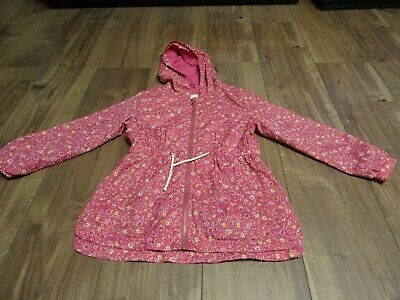 Mothercare age 8 yrs girls light weight raincoat / jacket with hood