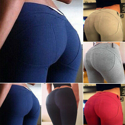 Womens Elastic High Waisted Legging Pants Casual Formal Stretchy Skinny Trouser