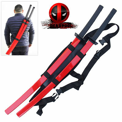 Deadpool Red Samurai Sword Set with Back Harness