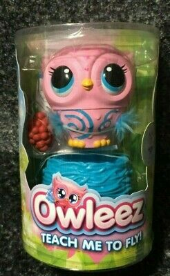 OWLEEZ Interactive Flying Baby Owl (Pink) - Pet Toy Drone Helicopter - Brand New