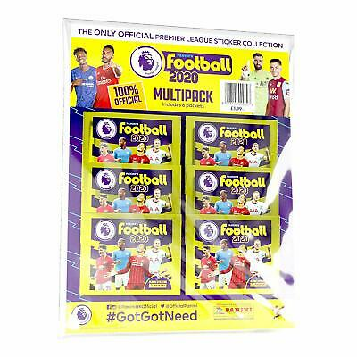 Panini Football 2020 Premier League Sticker Collection Multipack 6 Packs Packets