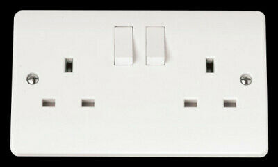 Click Mode 13A Double Switched Socket CMA036 (PACK OF 3) uk seller