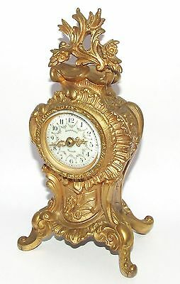 # Antique Rococo Gilt Bronze Miniature Bracket Mantel Clock CLEANED & SERVICED