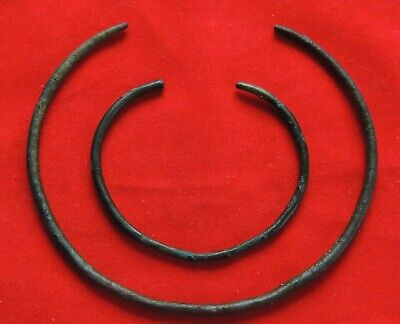 Ancient bronze bracelet arm and neck  3500-1200. BC.