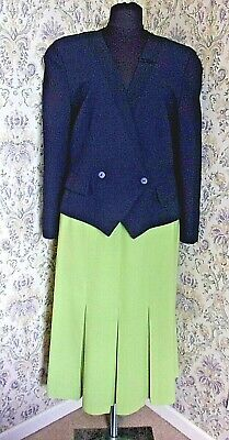 Womens vintage two piece party suit by JACQUES VERT Size 12 - 14 Jacket & skirt