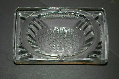 Vintage Lalique France Crystal Paperweight Thistle Pineapple Pattern (1432)