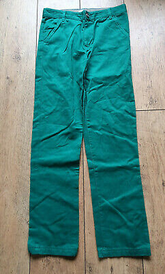 F&F Trousers Age 13 - 14 Years With Adjustable Waist Green