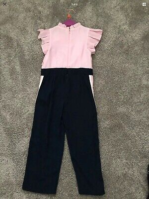 Ted Baker - Girls' Pink Frill Trim Jumpsuit Age 5 Years