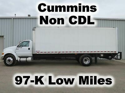 F650 Cummins Automatic 24Ft Box Cube Delivery Van Liftgate Truck 97-K Miles