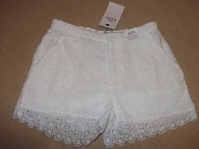 Girls White Lace Shorts Age 11-12 Years Marks & Spencer New With Tags
