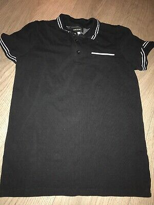 Boys River Island polo top, black, age 9/10 years, in excellent condition.