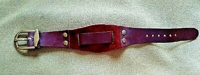 NOS VINTAGE Brown Leather Wrist Watch Band BOHO MID CENTURY MODERN HIPPY