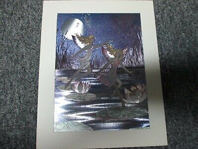 """Running Horses Dufex Foil Picture Print size 6/"""" x 8/"""""""
